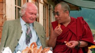 SA-Mann Heinrich Harrer mit dem Dalai-Lama