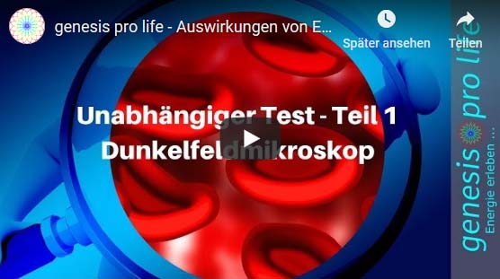 genesis pro life – Auswirkungen von Elektrosmog –Tests