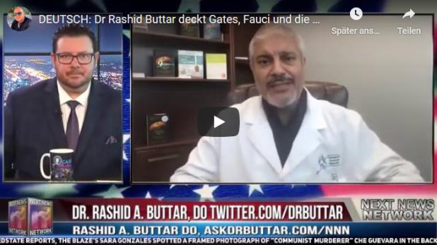 DEUTSCH׃ Dr Rashid Buttar deckt Gates, Fauci und die gefälschten Pandemiezahlenauf